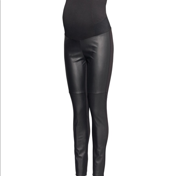 a7c0d2d8d1453 H&M Pants | Hm Faux Leather Maternity Leggings | Poshmark